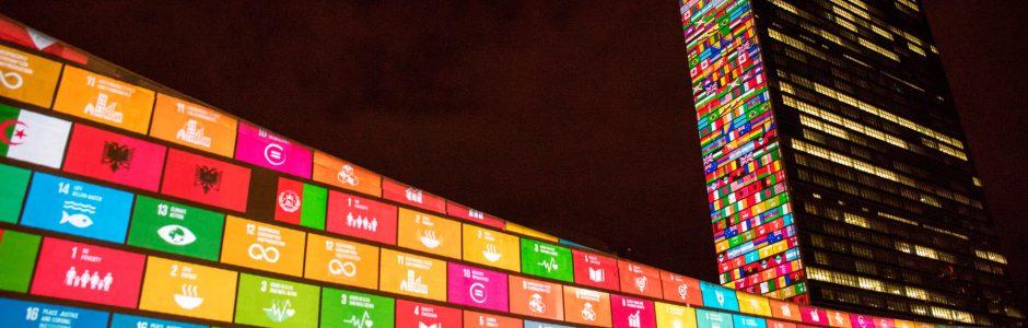 UN SDG lights (c) UN Photo/Chia Pak