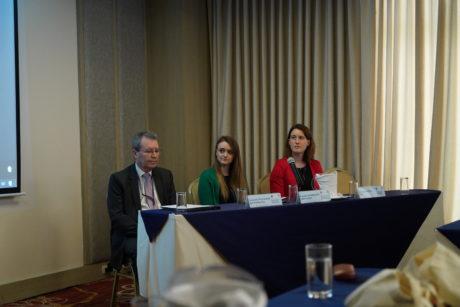 Mentor Villagomez (CPPS), Rachael Scrimgeour (UNEP-WCMC), Carole Durussel (IASS) - left to right