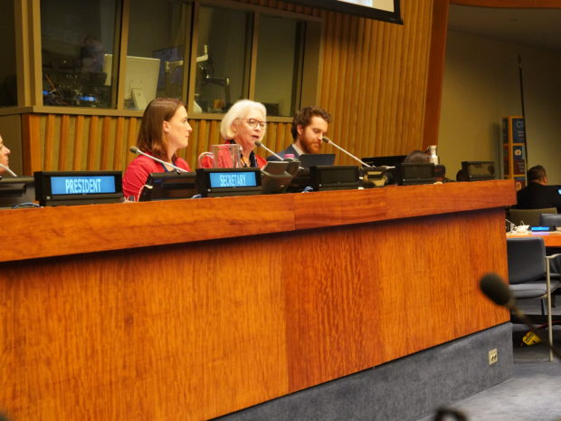 Nicola Breier (BMU), Carole Durussel (IASS), Kristina Gjerde (IUCN), Glen Wright (IDDRI) - left to right