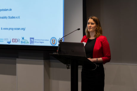 Carole Durussel (IASS) presenting ©Mathias Greiner